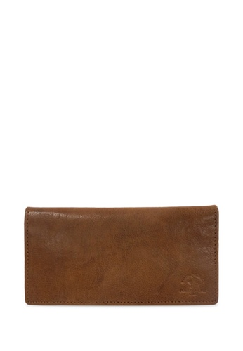 Santa Barbara Polo & Racquet Club brown Santa Barbara Polo & Racquet Club Leather Bifold Long Wallet 5AEA8AC0BCC473GS_1