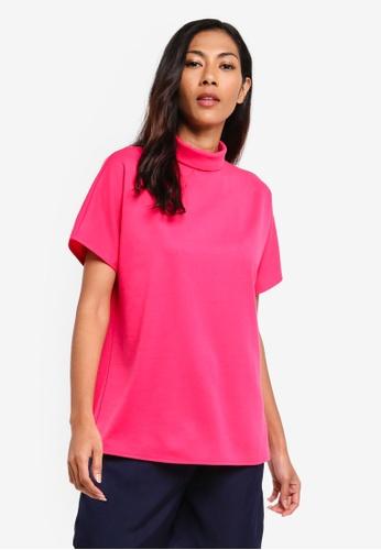 ZALORA BASICS pink Basic High Neck Top 3F01DAA96737DAGS_1