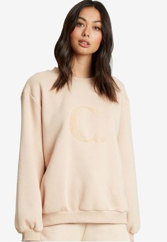 Calli brown Billie Oversized Sweatshirt D9035AADEC9BEAGS_1