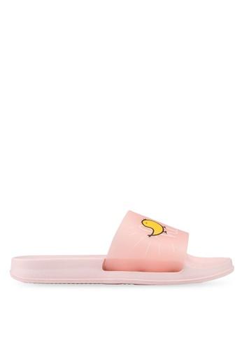 Keddo 粉紅色 透明印花拖鞋 006D4SH4AF4173GS_1