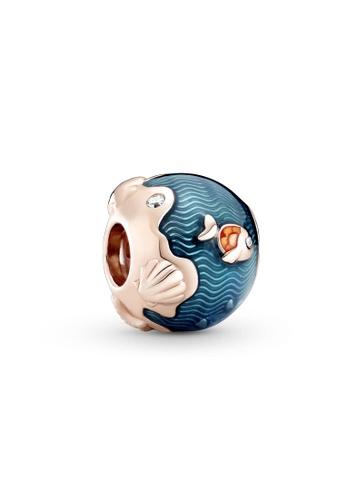 Pandora blue Shimmering Ocean Waves & Fish Charm 4713AAC45508BAGS_1