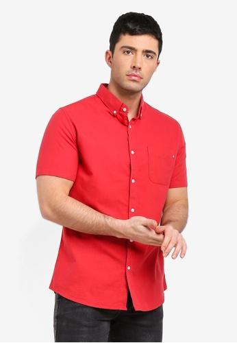 Cotton On 紅色 復古短袖襯衫 D8359AAC150956GS_1