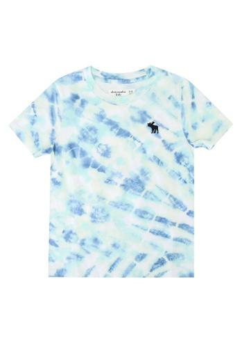 Abercrombie & Fitch blue Tropical Pattern T-Shirt D6128KAF8F9862GS_1