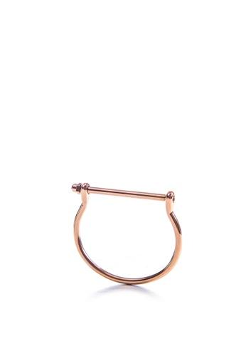 Dazz gold Stainless Steel Screw Cuff Bangle - Rose Gold DA408AC44RYDMY_1