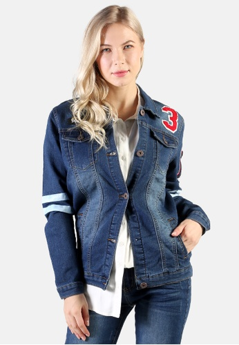 London Rag blue Denim Jacket With Patch Graphic Detail 6B6A0AA13DB65DGS_1