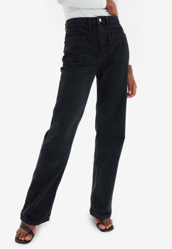 Trendyol black High Waist Wide Leg Jeans 7A4CEAAA7DED97GS_1
