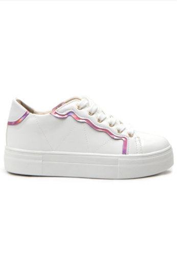 Crystal Korea Fashion white and pink Korean New Versatile Comfortable Casual Shoes 5A269SH8D22C6FGS_1