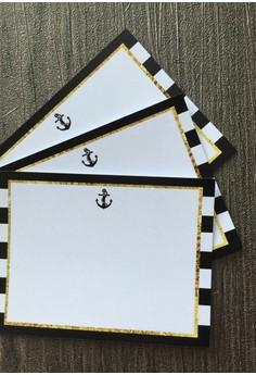 Nautical Notecards - Black 12pcs/set