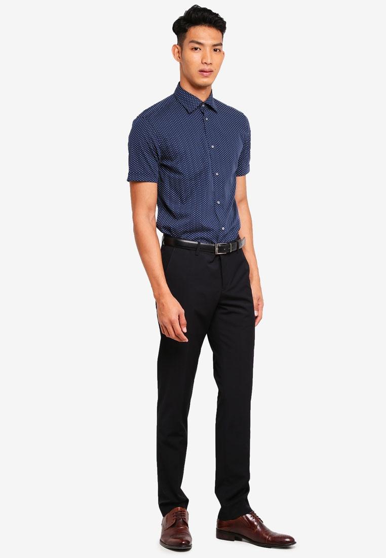 Sleeve ESPRIT Short Woven Navy Shirt wYg6Px4zq