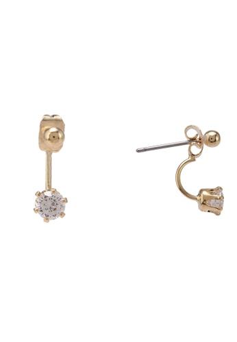 Orelia London gold Tiny Ball & Crystal Earrings OR747AC0SC3OMY_1