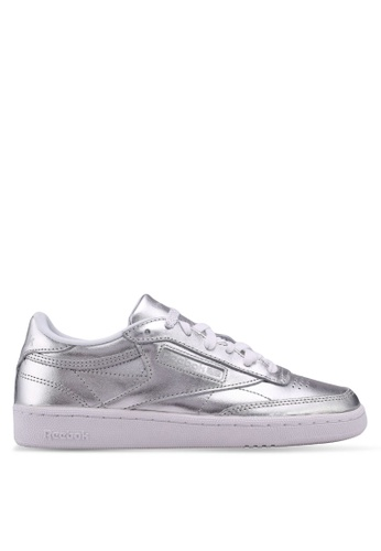 Reebok silver Club C 85 S Shine Shoes RE691SH0SVZVMY_1