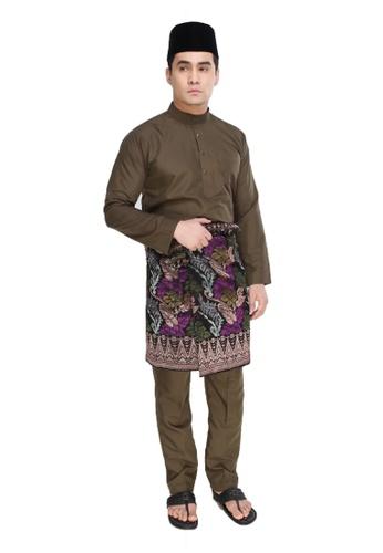Amar Amran green Baju Melayu Moden 79AFAAA5CA9ABBGS_1