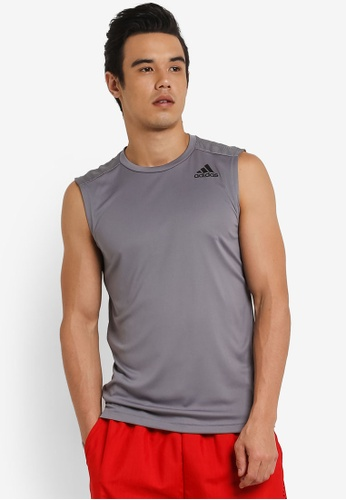adidas grey adidas Performance Climacool Sleeveless Top AD372AA0RS8ZMY_1