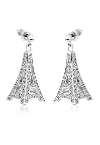 OUXI silver OUXI Eiffel Tower Earrings OU821AC24DNNMY_1