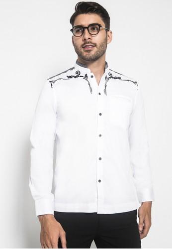 LGS white LGS - Slim Fit - Baju Koko - Bordir Halus - Kantong Satu - Putih F1B1FAAC8ADDCFGS_1