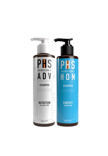 PHS HAIRSCIENCE PHS HAIRSCIENCE Signature Double Cleanse - ADV Nutrition Shampoo + HOM Fortify Correcting Shampoo [Anti-Hair Loss For Men] D40EDBEBCFA2ADGS_1