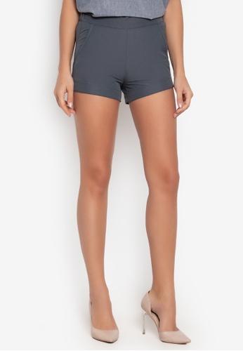 Courier grey Easy Plain Shorts 175BAAA5169FB9GS_1
