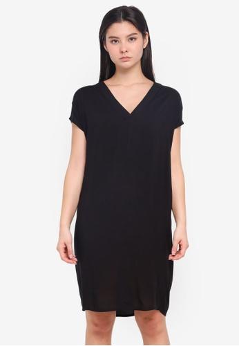 a78c89f050ec3 ICHI black Esther Dress 2E7C9AA166C7FEGS 1