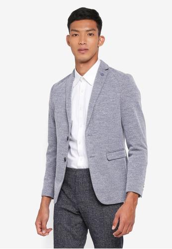 Selected Homme 藍色 修身西裝外套 20F82AA30FAA27GS_1