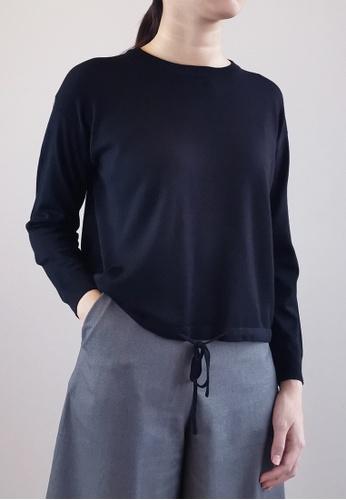 SUB black Women Long Sleeve Knit Top 4F3BDAAB2A5D79GS_1