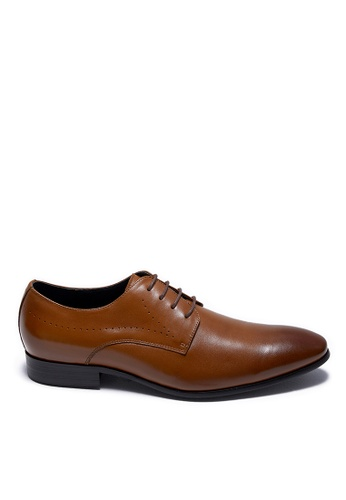 Life8 black Formal Pointy Toe Lace-Up Leather Shoes-09898-Brown A776FSH4354B89GS_1