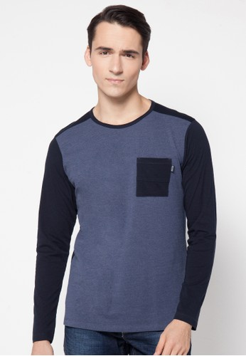 Contrast Sleeve With Pocket Tee