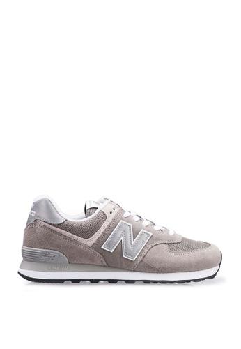 New Balance grey New Balance 574 Evergreen Shoes 1D3A0SH661801AGS_1