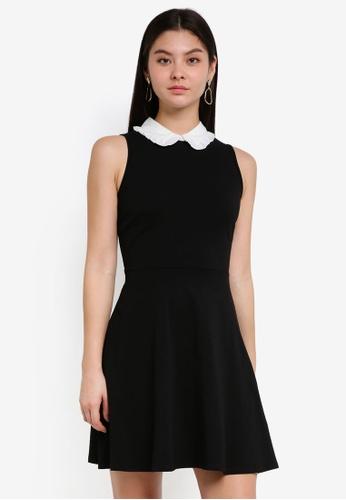 Dorothy Perkins 黑色 Black Sleeveless Collar Dress 14BE0AA37F871BGS_1