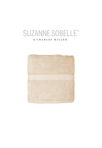 Charles Millen SET OF 2 Suzanne Sobelle By Charles Millen 100% Combed Cotton Garland Bath Towel 68 x 137cm 480g. 8A24CHL2767C44GS_1