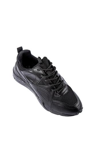 Otto black Combination Sneakers F4EF7SH9376113GS_1