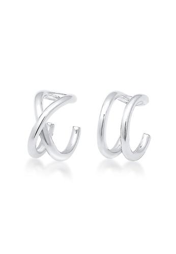 ELLI GERMANY silver Elli Germany Earrings Ear Cuff Geo Basic Minimal Sterling Silver CB58FAC70D2330GS_1