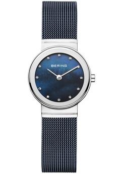 f53ddbd2e2a Bering blue and silver Bering Classic Blue 26 mm Women s Watch (10126-307)
