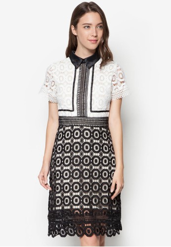 Lesprit 澳門esley's 維多利亞蕾絲及膝洋裝, 服飾, 洋裝