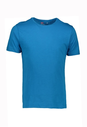 BENCH blue Colored Round Neck Tee 79FD7AA61886FFGS_1