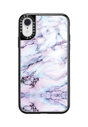 Casetify black and multi Marble Swirl Classic Grip Case for iPhone XR - Black 70199ACE287DC1GS_1
