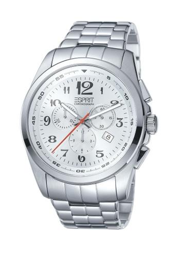 Esprit Esprit Noble Silver ES102201005 All Stainless Steel Chronograph Men Watch   6D192AC561EA2BGS_1