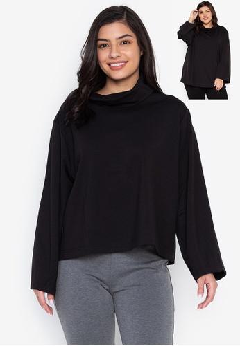 Wear Kris black Karlie Wide High Neck Collar Cocoon Sleeves 23818AA838149EGS_1