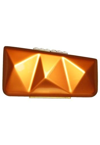 72 SMALLDIVE orange 72 Smalldive Womens Minaudiere Clutch in Metallic Copper E445DAC8B6FE5AGS_1