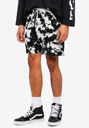 OBEY black and multi Paloma Shorts B676CAAE253274GS_1