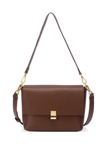 Della Stella brown MO$$A PEONY Bag DC810ACAC7F1D3GS_1