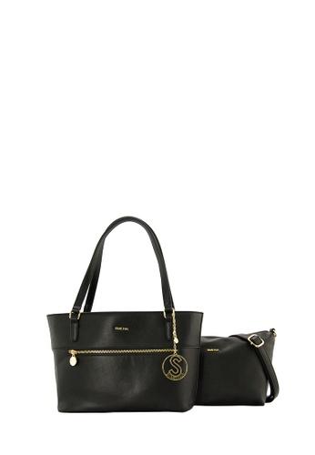 SEMBONIA black SEMBONIA Synthetic Leather Tote Bag (Black) SE598AC0SBC8MY_1