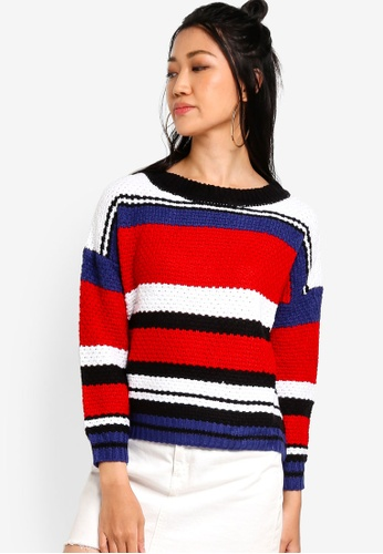 Something Borrowed multi Block Striped Knit Sweater 50132AAC6704F4GS_1