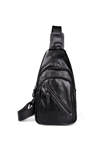 HOOR black Portable Casual Shoulder Bags Chest Bags for Men HO897AC14TWVPH_1