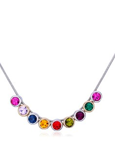 Swarovski Multicolor Crystal Necklace by ZUMQA