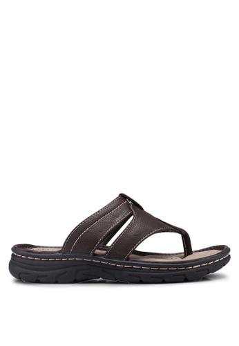 Bata 褐色 Slide-On Sandals 21A9ESH14F3BD2GS_1