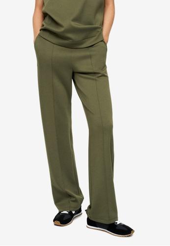 Mango green Drawstring Waist Straight Trousers 96D88AA29933D3GS_1