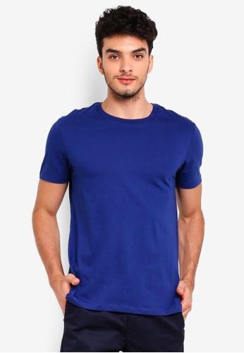 Burton Menswear London blue Cobalt Blue Crew Neck T-Shirt 27EE3AAF58BE31GS_1