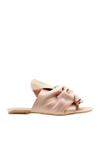 eq:iq pink eqKELLY Knot Embellished Sandals EQ351SH08YOPSG_1