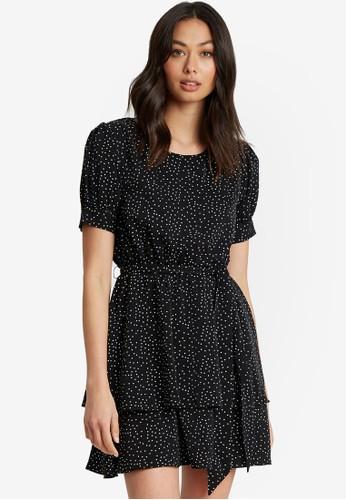 Calli black Scottie Mini Dress 8DC4CAA80D0171GS_1