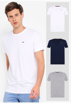 c353a77c Hollister white and multi and navy Crew Multipack Tee C3F1AAA02D5240GS_1